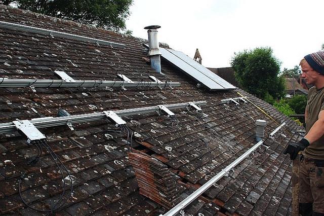 rooftop solar PV rack