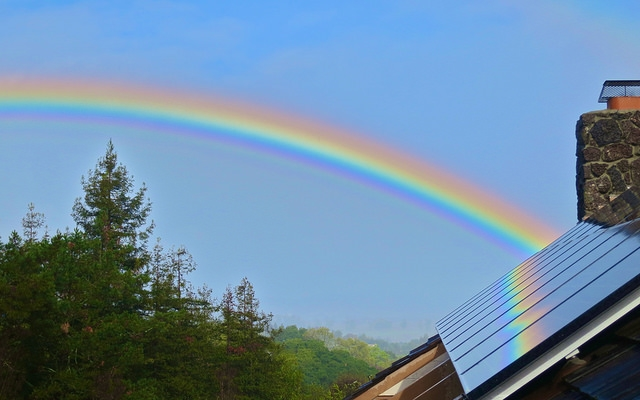 home solar panels rainbow