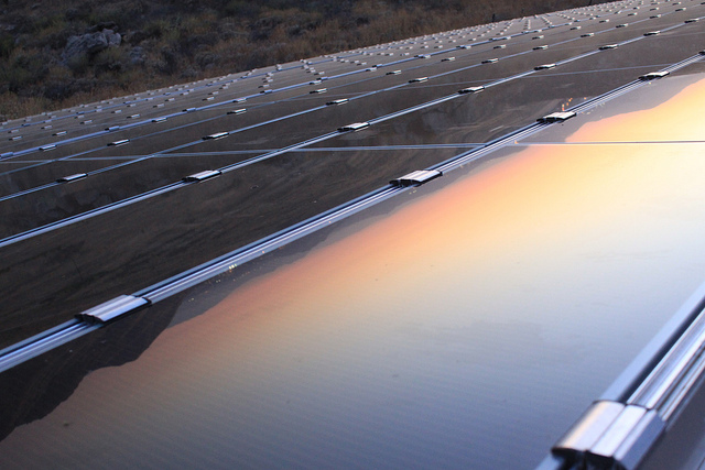 solar-panels-sunset